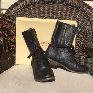 Mossimo Khalea Black Combat Boots 10